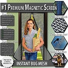 Mosquitera magnética para puertas - Nuevo diseño, Sin huecos, Manos libres; Instálela usted mismo. Cortina mosquitera que se cierra como magia. ¡Deje entrar el aire fresco y los insectos afuera!