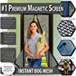 Premium Magnetic Fly Screen Door - KEEPS BUGS OUT Lets Fresh Air In. No More Mosquitoes or Insects. Instant Bug Mesh with Top-to-Bottom Seal, Snaps Shut Like Magic for a Hands-Free Bug-Proof Curtain