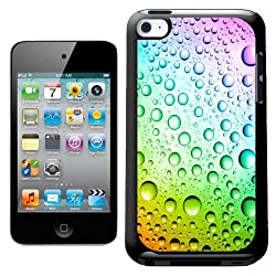 Fancy A Snuggle Rainbow Multicolour Water Droplets Design Hard Back Case Cover For Apple Ipod Touch 4th Generation