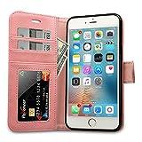 Labato Handytasche für iPhone 6s Plus / 6 Plus Schutzhülle aus Echt Leder Bookstyle Hülle für i Phone 6s Plus / 6 Plus Tasche, Zubehör für iPhone6 s Plus Smartphone, pink, Lbt-I6U-05Z35
