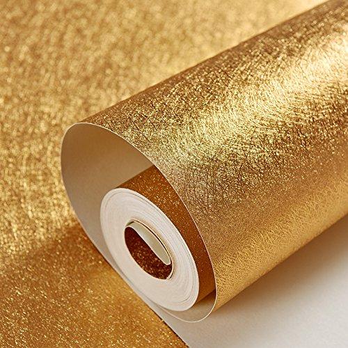 Loaest Im Europäischen Stil 3D Stereo Bar Ktv Gold Folie Tapeten Decke Decke Golden Friseur Pvc Wasserdicht Tapete