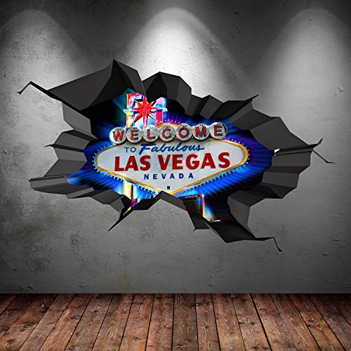 full-colour-las-vegas-sign-casino-cracked-3d-wall-art-sticker-transfer-decal-mural-print-graphic-2