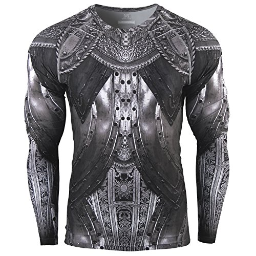 Zipravs Herren Cool Armour Kompressionsshirt Funktionswäsche Base Layer Langarm