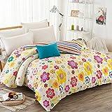 Puro algodón solo duvet cover/Otoño e invierno algodón edredón individual/ cómodo y respirable edredón-K 200x230cm(79x91inch)