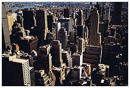 Richardson Building (ArtPlaza Jenn Richardson - Manhattan Buildings, Dekorative Paneele, Holz, Mehrfarbig, 90 x 1.8 x 60 cm)