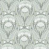 Baumwollstoff | 'Beauclair' Art Nouveau / Jugendstil Stoff - Luxuriöse Grautöne und Silber, Fein Weiß und Glänzendes Gold | 100% Baumwolle | Stoffbreite: 140 cm (pro Laufmeter)*