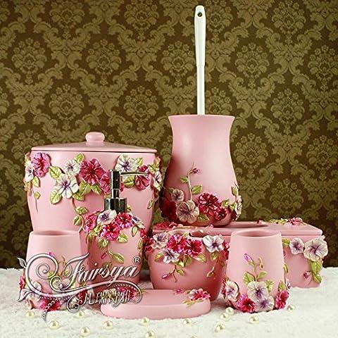 BBSLT Baño moderno europeo lavar el kit de resina en polvo manor romántico conjunto de ocho