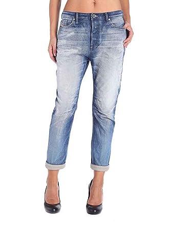 23a03b27fe Diesel Donna Boyfriend Jeans EAZEE 0840V Blu: Amazon.it: Abbigliamento