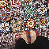 Fliesenaufkleber - Fliesen für Boden | Aufkleber Folie Sticker für Fliesen Boden - Küche Oder Bad | Fliesenfolie als Alternative zu Fliesenfarbe | 20x20 cm - Design Portugiesische Fliesen