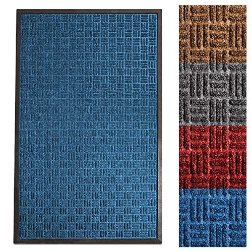 Casa Pura® Eingangsmatte | geprägt Fußmatte vorne | Innen und Außenbereich Eintrag Teppich | viele Farben & Größen, 24