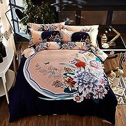 El otoño y el invierno de lijado de 4 piezas de algodón algodón chino colcha estilo folclórico chino hojas gruesas de 1,8 camas,música,danza de 1,8 m (6 pies) cama