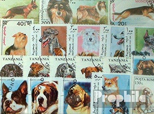 50 Briefmarken (Motive 50 verschiedene Hunde Marken (Briefmarken für Sammler))