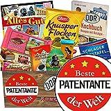 Beste Patentante | Schokoladen Paket | Geschenk Ideen | Beste Patentante | Schokoladenbox | Geschenk für beste Patentante zum 40 Geburtstag | INKL DDR Kochbuch