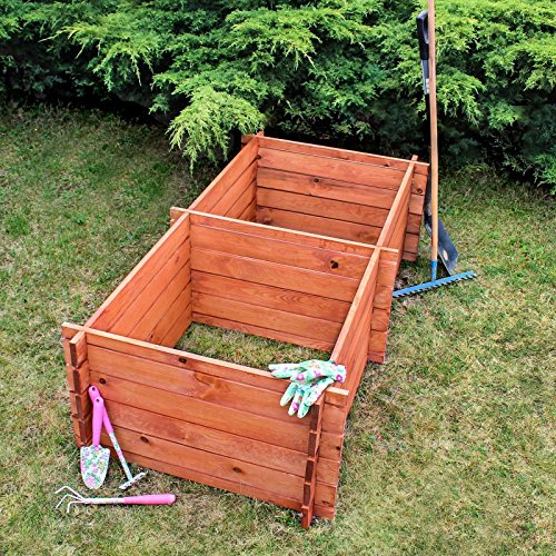 Gartenkomposter Holz-Komposter Kompostbehälter Komposter 85x170x50 cm 720L, Farbe:Brown