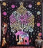 Tapisseries Éléphant, tapisserie hippie, tapisseries arbre de vie, tapisseries de mur, tapisseries bohémiennes, tapisserie indienne murale à suspendre