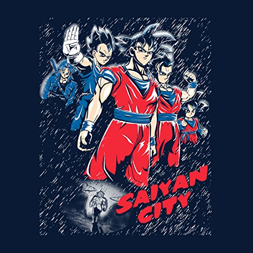 Dragon Ball Saiyan City Women's Hooded Sweatshirt Navy Blue
