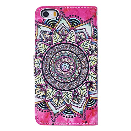 Custodia iPhone 7/iPhone 8 (4.7), EUWLY Flip Cover Leather Wallet Case Custodia per iPhone 7/iPhone 8 (4.7) in PU Pelle, Bling Bling Custodia Cover con Ultra Sottile Interno Silicone TPU Case Protet Rosa Girasole