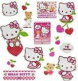 Unbekannt 15 TLG. Set _ Wandtattoo / Sticker -  Hello Kitty  - Wandsticker - Aufkleber für Kinderzimmer - selbstklebend + wiederverwendbar - Kinder - Mädchen / Katzen..