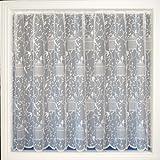 Cortinas y visillos de encaje, modelo el canto de los pájaros, se vende por metros, color blanco, blanco, 160cm de long