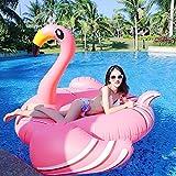 Hochwertige Pool Float Schwimmendes Bett Aufblasbarer dünner Hals-Flamingo-sich hin- und herbewegende Reihe Sommer-Wasser-Sport-Partei Mounts Floating Bed KKY-ENTER