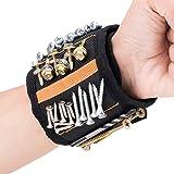 JTENG Bracelet Magnétique Réglable avec 20 Aimants Super Puissants Bracelet avec Aimants pour Vis, Boulons et Petites Pièces