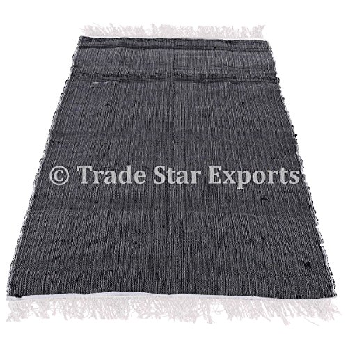 4x 6indiano Chindi Rug, Large area tappeto decorativo, reversibile tappeto passatoia, intrecciato a mano gettare etnico yoga Durries tappeti Pattern-2