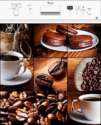 Preisvergleich Produktbild Wandtattoo Lava laisselle Kaffee oder Magnet Spülmaschine, 60 x 60 cm