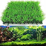 Aquarium Kunstpflanze künstliche Rasen, Kunststoff grün, Wasser Gras Pflanze Aquarium Rasen Dekoration für Fish Tank