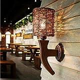 LED-Wandleuchte Wand kreative ursprüngliche ökologische Holz Wohnzimmer Schlafzimmer Höhle Wandleuchte Persönlichkeit Inn Teestube Studiolampen