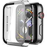 TOUGH LEE Full Body Hard Case with Built-in Tempered Glass Screen Protector for Apple Watch Series 4, 5, 6 and SE - 44 mm | i