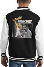 Coto7 Freddie Mercury Queen Tribute Montage Kid's Varsity Jacket