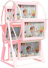 6 Frames Rotating Wheel Double Sided Photo Frame with 12 Pictures - Gifts Byte