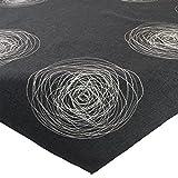Mitteldecke Tischdecke Leinenoptik 85x85cm mit Kreisen in grau