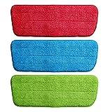 PANGUN Microfiber Spray Mop Ersatzkopf Pads Bodenreinigung Tuch Haushalt Reinigung Mop Zubehör-Grün