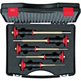 Knipex 9R 425 154 0 Splintentreibersatz 5-tlg im Koffer, gold