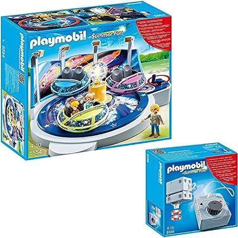 Playmobil la feria Set de 2 partes 5554 Breakdancer + 5556 accionamiento eléctrico para Rides