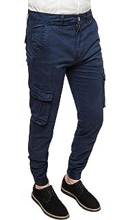 Urban Classics Pantaloni Cargo da Uomo con Elastico alla Caviglia Joggers con Tasche Laterali e Coulisse in Vita Taglio Stretto Slim Fit