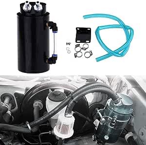Honhill Universal Oil Catch Tank Aluminium Racing Motor Kann Öl Catch Reservoir Kann Kit Auto