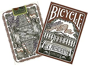 BICYCLE- US Presidents Baraja de Poker de Colección (Naipes Heraclio Fournier 1033317)