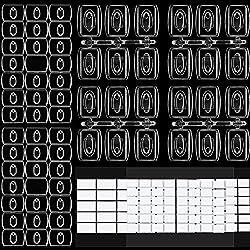 60 Stück Mini Klare Deko-Clips zum Dekorieren, Dekorationsclips für Lichterketten, Multifunktionales Traceless Abnehmbarer Hängender Clip für Zuhause, Schule im Freien (Größe B)