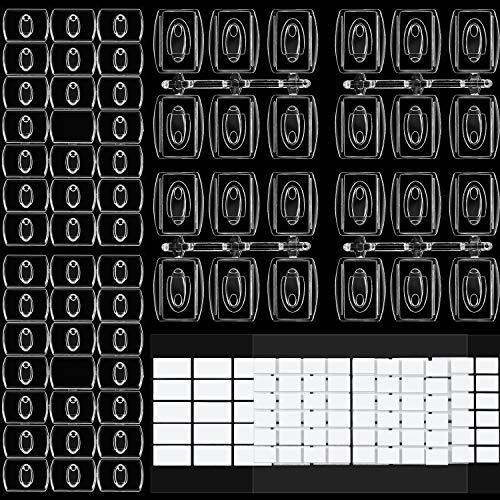 60 Stück Mini Klare Haken zum Verzieren, Urlaubslicht Haken, Clip für Lichterketten, Multifunktion Dekoration zum Aufhängen von Clips für Zuhause, Schule Draussen (Größe B) -