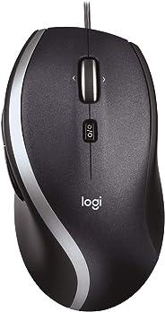 Logitech M500 PC-Maus mit Kabel, USB-Anschluss, 1000 DPI Laser-Sensor, 7 Tasten, PC/Mac - schwarz, Englische Verpackung