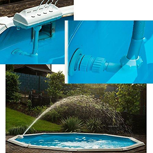 SL247 Pool LED Wasser Fontäne Poolbeleuchtung Universalanschluss über Handelsübliche Einstömdüse