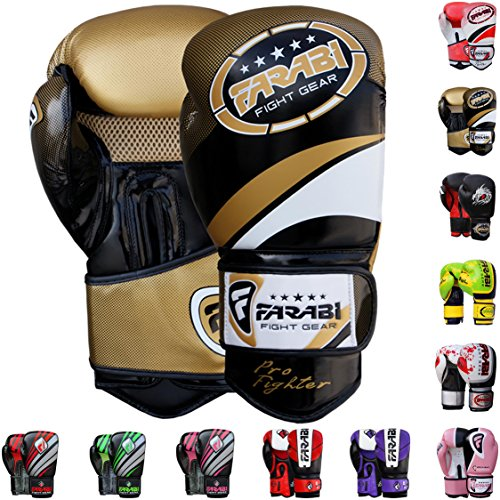 Farabi Vento Boxing Gloves-Golden 12-oz