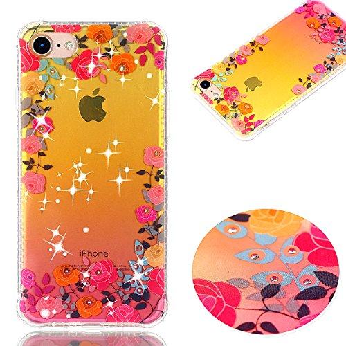 Cover iphone 7 / iphone 8, Custodia iphone 7 / iphone 8, Cozy Hut Premium Beautiful IMD Craft Gradient Color Design per iphone 7 / iphone 8 Cover Custodia Silicone Transparente Pulire Stampa TPU Back Rose rosa