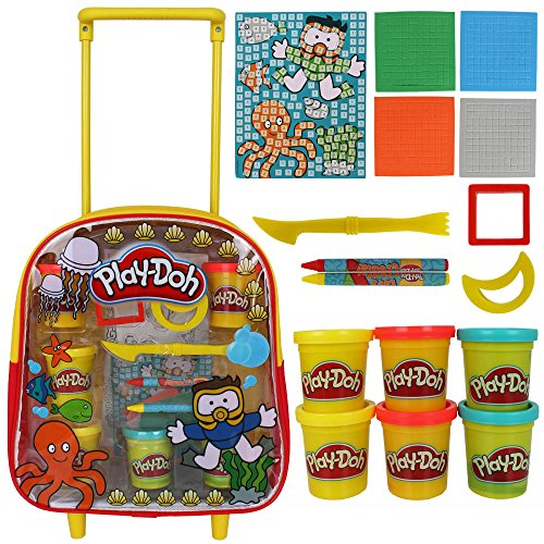 Play-Doh Rucksack mit Knete, Stiften und viel Zubehör - Trolley Set Play-Doh - Kinderknete