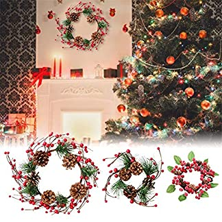 mysticall-Knstlicher-Beerenkranz-knstliche-Blumengirlande-Dekor-Tannenzapfen-Rattan-fr-Weihnachten-Thanksgiving-Tr-hngen-Glocke-Anhnger