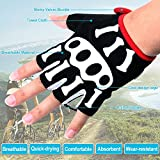SPAKCT Cycling Gloves Non-slip Bike Fingerless Gloves Mountain Bike Gloves Road Racing Bicycle Gloves with Shock Absorbing Silicone Gel Pad Breathable Bicycling Gloves Riding Gloves Men Women Gloves ...