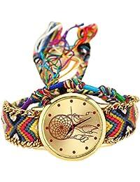 Reloj mujer original ❤️ Amlaiworld Moda Relojes niña Reloj de pulsera de cuarzo artesanal original mujer hecho a mano Reloj de Vestido de mujer Pulseras Joyería Señora Relojes de bolsillo reloj mujer deportivo fitness (H)