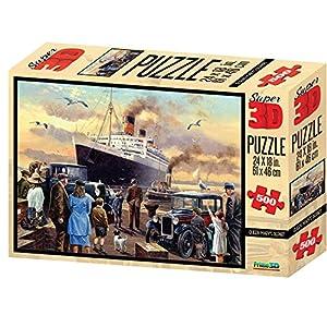 Kevin Walsh kw10036el Queen Mary Super 3D Puzzle (500Piezas)